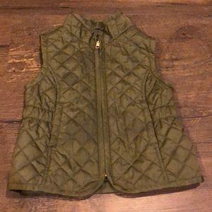 Olive Green Toddler Quilted Vest